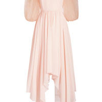 STYLEBOP.com Exclusive Silk Dress with Chiffon Sleeves - Delpozo | WOMEN | KR STYLEBOP.COM