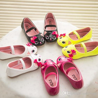 Fashion New Brand Children's Faux Leather Cartoon Kitty Casual Shoes Cute Bowknot Princess Shoes Kids Sandals size 26-30 VY0015salebags