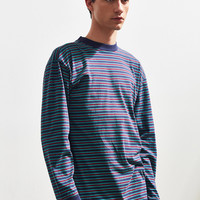 UO Stripe Mock Neck Long Sleeve Tee | Urban Outfitters