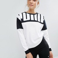 Puma Rebel Logo Crew Neck Sweatshirt at asos.com