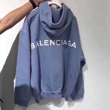 Balenciaga Long Sleeve Hedging Pullover Sweater Hoodies