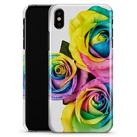 Rainbow Dyed Roses - iPhone X Clipit Case
