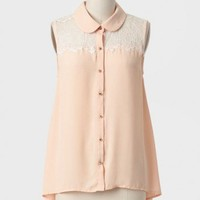 Tranquil Moment Lace Detail Top at ShopRuche.com