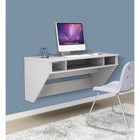 Prepac SOHO White Floating Desk