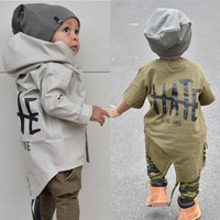 Newborn Baby Boy Autumn Clothes Baby Boy Kids Hooded Jacket Hoodies Coats Outwear Age 0-24M