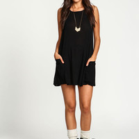 Black Breezy Slip Dress