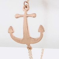 Anchor Thin Chain Bracelet