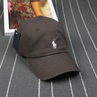 Brown Polo Embroidered Outdoor Baseball Cap Hats