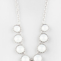 Full Tilt 8 Stone Necklace Ivory One Size For Women 27331016001