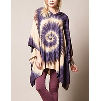 Spiral Hooded Poncho