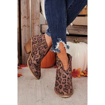 IMPERFECT Wild West Booties (Leopard)