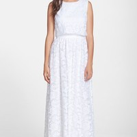 Women's ERIN erin fetherston Embroidered Organza Popover Maxi Dress