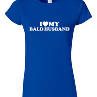 I Love My bearded bald Husband T Shirt You've Seen It  For Wife Bearded Bald Lovers Unite With This Classic T Shirt Christmas Wedding Gift