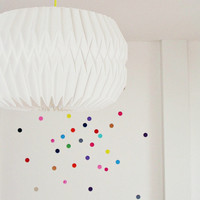 """33 colored stickers, sticker, dots """"Points"""" wall decals, wall stickers, geometry, circles, wall decoration, colorful, children's room, decoration"""