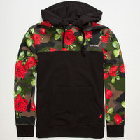 Asphalt Yacht Club Floral Camo Mens Hoodie Black  In Sizes