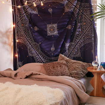 Celestial Medallion Tapestry   Urban Outfitters