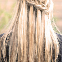"""...love Maegan: Partial French Braid with Cascading Hair ~ Tutorialalso known as the """"Waterfall Braid"""" 