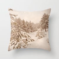 White forests Throw Pillow by Guido Montañés | Society6