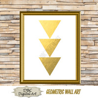 Geometric Gold Foil Wall Art, Love Wall Art, Inspirational Wall Art, Wall Décor, Home Décor, Digital Art, Digital Download, Instant Download