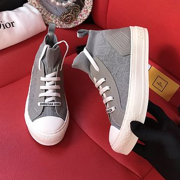 Dior hot sale low-top letter flat lace-up sneakers shoes