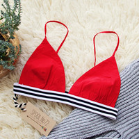 The Weekender Bra in Red