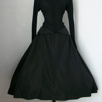 Amazing 1940s Black Long Sleeve New Look Full by thedressmenagerie