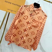 LV 2019 new style brand old flower embossed shirt