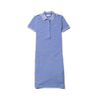 Women's Striped Stretch Mini Cotton Piqué Polo Dress
