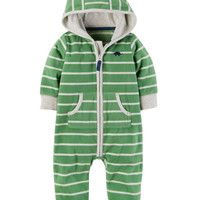 Dino Hooded Fleece Jumpsuit