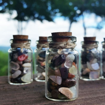 Gemstone Wishing Chips Bottle - Tiny Crystals for Magical Wishes