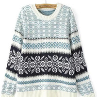 Floral Long Sleeve Knit Sweater