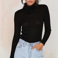 Glamorous No Chill Ribbed Turtleneck Sweater