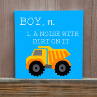 Baby Definition Stretched Canvas with Initial Gift for Baby Shower Decoration for Nursery Gift for Baby's Room Baby Boy Decoration