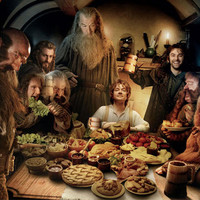 The Hobbit: An Unexpected Journey Panoramic Poster -- At the Table |