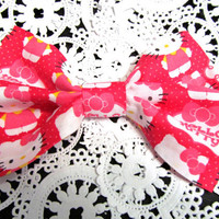 Hello Kitty Fabric Hair Bow