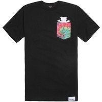 Grizzly Pocket Tie Dye T-Shirt - Mens Tee - Black -