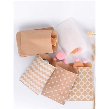 25pcs Geometric Print Baking Packaging Bag
