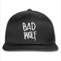 bad wolf EMBROIDERY HAT - Snapback Hat