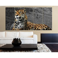 Large Wall Canvas Art Print Leopard Wild Animal Life for Home DecorationCanvas Painting