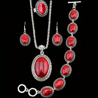 Sunflower Red Turquoise Sets