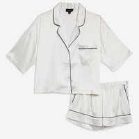 Satin Shirt and Shorts Set | Topshop