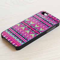 Aztec iPhone 5 case  hot pink by AnotherCase on Etsy