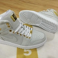 Air Jordan 1 Pinnacle 24k 1985 White/gold Men Sport Sneaker | Best Deal Online