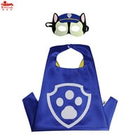 L27* PAW Patrol satin cape+mask for Christmas costumes Birthday cosplay gift Carnival for kids