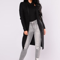 Abella Duster Sweater - Black