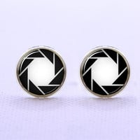 Portal Symbol  Cufflinks -Mens Silver Plated Cufflinks,Accessoires for Man-Mens Gift ,Gift for Daddy ,Best Man