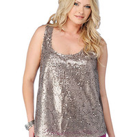 Plus Size Metallic Sequin Top | Sexy Clothes Womens Sexy Dresses Sexy Clubwear Sexy Swimwear | Flirt Catalog