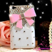 IPod Touch 4 Case, White Case Pink .. on Luulla