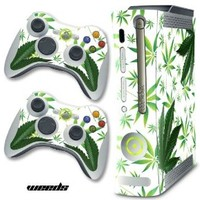XBOX 360 Console Weeds White Design Decal Skin - System & Remote Controllers - Weeds - White