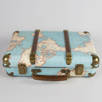 World Map Suitcase